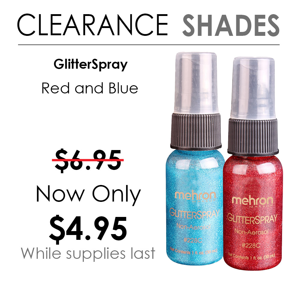 Clearance shades of Glitterspray