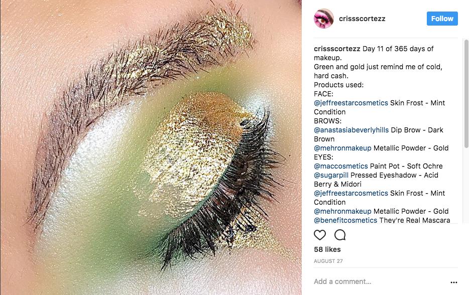 Metallic Brows - Instagram's Latest Eye Popping Makeup Trend - mehron